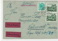 Germany DDR 1954 Cottbus Cancel Expres LandMachines + Men Stamps Cover Ref 30320