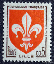 France Timbre NEUF ** LUXE  Yvert 1230 Armoiries LILLE 1960