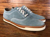 """Men's Allen Edmonds """"Porter Oxford"""" Casual Shoes Slate Blue Suede Size 11 D"""