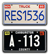 Toy Story & Cars | Pixar | RES1536 + A-113 | STAMPED Replica Prop License Plates
