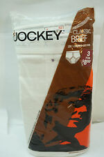 VINTAGE JOCKEY MENS UNDERWEAR 1970s WHITE BRIEFS SIZE 42 NOS UNOPENED PACK OF 3