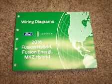 2016 Ford Fusion Hybrid Electrical Wiring Diagram Manual S SE Titanium