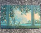 "Maxfield Parrish The House Of Art NY Print 29-3/4"" x 17-3/4"" Vintage Print"