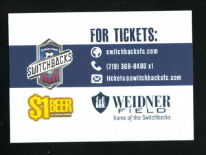 Colorado Switchbacks--2019 Pocket Schedule--USL Championship