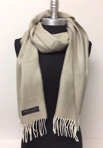 NEW 100% CASHMERE SCARF MADE IN SCOTLAND PLAID Solid DESIGN SOFT Wrap UNISEX
