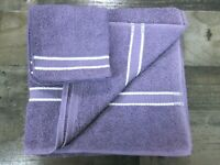 Canon Bath Towel Washcloth Purple White 100% Cotton Vintage 90s Made in USA New