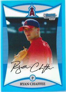 2008 Bowman Chrome Prospects #BDPP14 Ryan Chaffee Recluta Blu Rifrattore #50/99