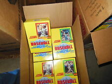 1990 SCORE BASEBALL CARDS UNOPENED BOX 36 PACKS FACTORY SEALED FROM CASE