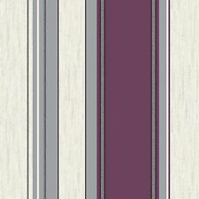 NEW Plum Purple /Silver Glitter- M0800 - Synergy - Stripe - Vymura Wallpaper