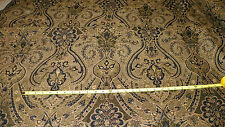 Black Gold Beige Gothic Print Upholstery Fabric 1 Yard  R215