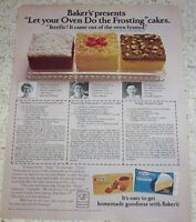 1979 print ad page - Baker's Coconut cake recipes Camille Pappone advertising
