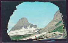 Glacier NATIONAL PARK Tunnel Going to the sun Road Mt. Clements Postcard