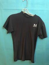 Men's Large L Under Armour Short Sleeve Navy Blue Shirt Workout Shirt 035