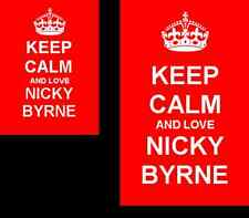 Keep Calm And Love Nicky Byrne Novelty 2 Sided Keyring And Fridge Magnet
