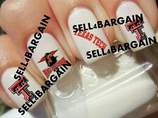 TEXAS TECH UNIVERSITY RED RAIDERS COLLEGE LOGOS》Tattoo Nail Art Decals