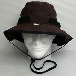 NWT! Nike Dri-Fit TEAM BROWN/BLACK Dry Bucket Hat CU6611-249 | Size M