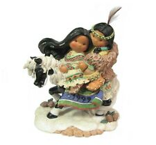 Enesco Friends of the Feather Love Reins Figurine Native Horse 1999 #551457 vtg
