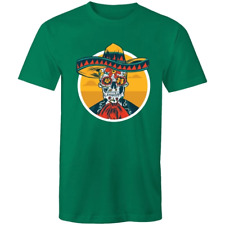 Men's Floral Mexican Skull T-shirt - Trippy Hippie Tee Shirt - All Sizes