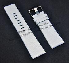 Comp. Diesel DZ4240 DZ4292 DZ7116 - 26mm White Genuine Leather Watch Strap Band