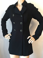 NEW ST JOHN KNIT COUTURE SZ 2 WOMENS JACKET BLACK CAVIAR DOUBLE MILANO KNIT