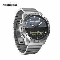 North Edge Pilot Digital Watch Multifunction Waterproof Military Diving Watch