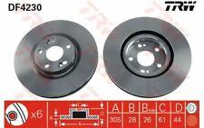 2x TRW Front Brake Discs Vented 305mm for RENAULT AVANTIME DF4230 - Mister Auto