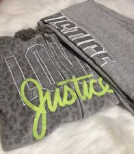 Adorable Girls Leapord Print ,Velour Love Justice 2 Piece Matching Hoodie Set !!