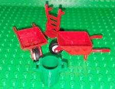 LEGO Minifigure Wheelbarrow Hand truck cart garbage trash can Accessories LOT