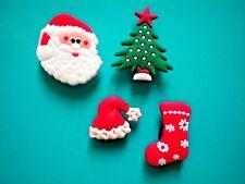Croc Clog Jibbitz Charm Shoe Plug Accessories WristBand Santa Hat Christmas Tree