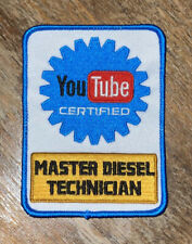 YouTube Certified Master Diesel Technician Patch - MechanIc - BUY 3, GET 1 FREE!