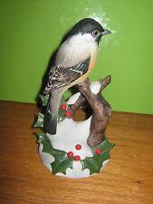 Vintage Andrea by Sadek Chickadee with Holly 7843 Figurine - 1987