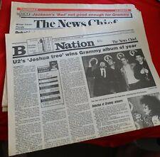 U2's 'Joshua Tree' Wins Grammy Album of Year - March 3 1988 Florida Newspaper