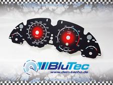 Tachoscheiben für Tacho BMW E38 E39 E53 5er X5 300kmh - RED CIRCLE -