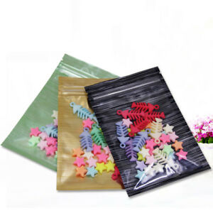 100x Clear Plastic Colorful Line Design Aluminum for Zip Mylar Foil Bags Lock