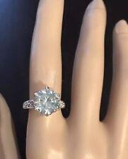14k Gold Over Silver Filigree Ring Vs2 Huge Approx 4 Ct Moissanite