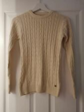 Kangol cream cable knit long sleeve jumper - size 8
