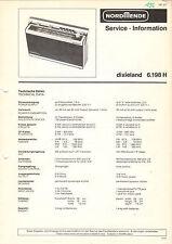 Nordmende Service Manual guía dixieland 6.198 h b1666