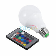 3w/5w/10w E27 16 Color Changing RGB LED Light Bulb IR Remote Control Party Decor 3w
