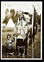 ⫸ 978 Postcard, Plenty Coups & Granddaughter, Crow  – N. Forsyth 1905 Photo  NEW