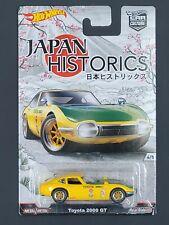 2016 Hot Wheels Car Culture Japan Historics Toyota 2000 GT Yellow Real Riders