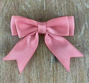 """Bows, Pack of 10, Small Ready Made  2"""", Satin Ribbon Double Bows - 20 Colours"""