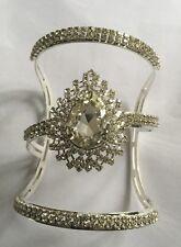 SeXy Wide Crystal Diamante Rhinestone Cuff Bangle On Silver Base with Diamante