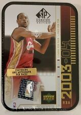 2003-04 Upper Deck SP Signature Box Factory Sealed Lebron Rookie Tin