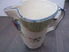 Pichet pot verseuse broc anse peint décoré main italie italy bon état vintage.