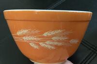 Pyrex 401 Autumn Harvest Wheat Small Mixing Bowl 750mL Vintage Corning, NY USA
