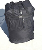 3 Size Expandable Luggage Bag Duffle Black Travel Moving Roller Wheels Voyager