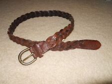 Abercrombie & Fitch  Braided Leather Belt Sz 32