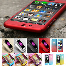 Full Cover per iPhone 7 5s5s se 6s 6 Plus 360° Custodia Protettiva + Vetro 9 H