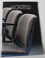 Möbel italienisches Design Castelli Prospekt Katalog Messekatalog 80er Jahre