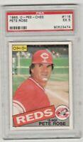 1985 O-Pee-Chee #116 Pete Rose PSA 5 EX Cincinnati Reds Baseball Card